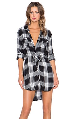 Rails Nadine Button Down Dress in Black & Ash