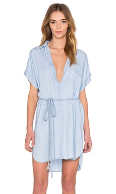 Rails Savannah Button Down Dress in Light Vintage Wash