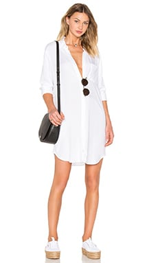 Sawyer Button Down Dress in White