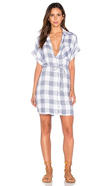 Savannah Button Down Dress in River & White Check