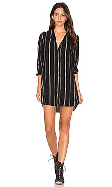 Rails Stephanie Dress in Black & Mocha Stripe