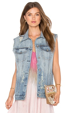 Rails Elsa Denim Vest in Medium Vintage Wash