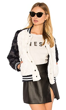 Posey Faux Fur Bomber Jacket