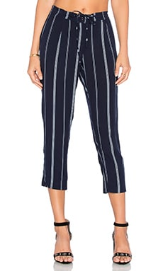 Rails Morgan Pant in Midnight & White Stripe