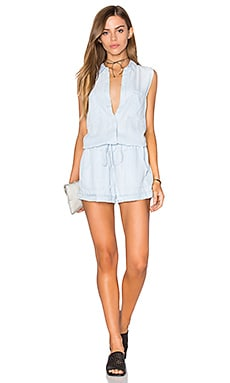 Rails Emerson Romper in Light Vintage Wash