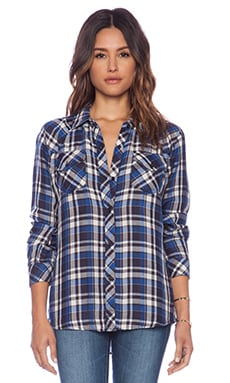 Rails Kendra Button Down in Sky & Navy & White