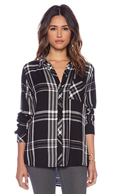 Rails Hunter Button Down in Black & White & Gray