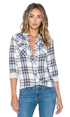 Rails Kendra Button Down in White & Indigo