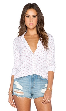 Rails Rocsi Button Down in Ivory Floral
