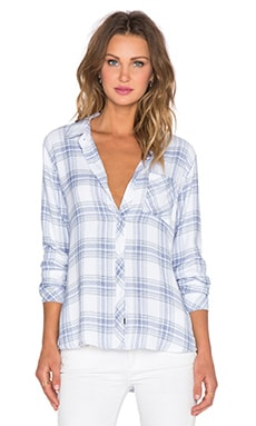 Rails Hunter Button Down in White & Blue Melange