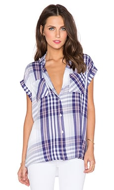 Rails Britt Button Down in Periwinkle & Blush