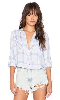 Rails Rian Crop Button Down in Sky & Pink Melange
