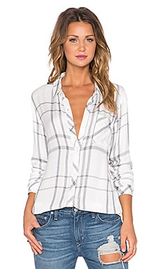 Rails Hunter Button Down in White, Charcoal & Pink