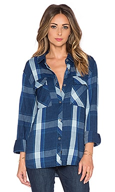 Rails Brayden Button Down in Cobalt & Indigo