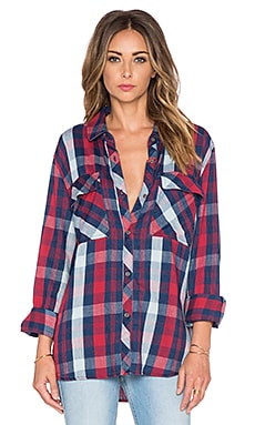 Rails Brayden Button Down in Red Indigo