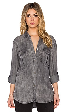 Rails Marlow Button Down in Charcoal