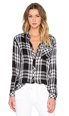 Rails Hunter Button Down in Ebony & White