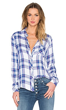 Rails Hunter Button Down in White & Blue & Raspberry