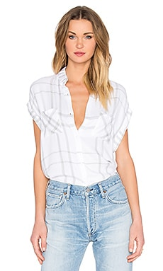 Rails Britt Button Down in White & Charcoal