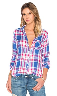 Rails Hunter Button Down in Marina & Flamingo