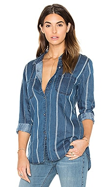 Carter Button Down in Indigo Varigated Stripe