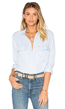 Daphne Button Down in Railroad Stripe