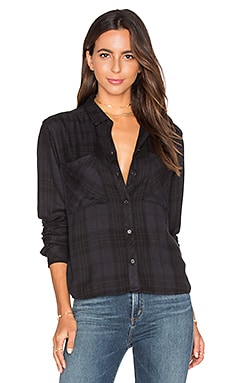 Dylan Button Down en Carbon & Black