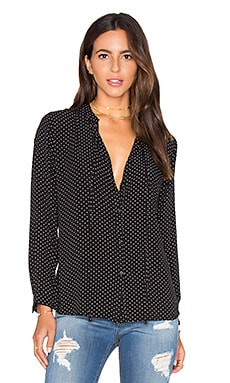 Abby Top in Black & White Polka Dot