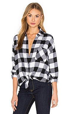 Jackson Button Down en White & Black Check