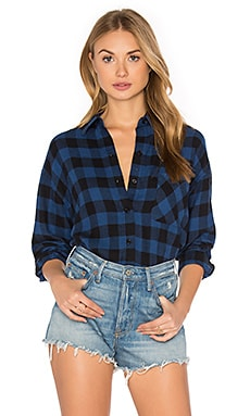 Jackson Button Down in Blue & Black Check