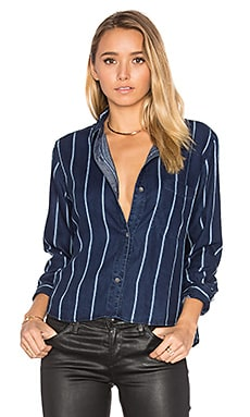 Dana Button Up en Midnight Tribeca Stripe