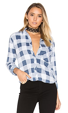Dana Button Up in Midnight Buffalo Check