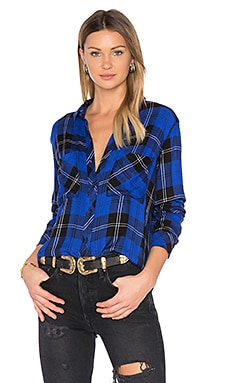 Dylan Button Up in Cobalt Tartan