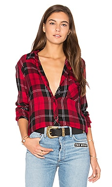 Hunter Button Up in Red Tartan