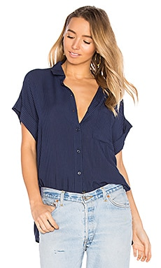 Whitney Button Up in Midnight Stripe