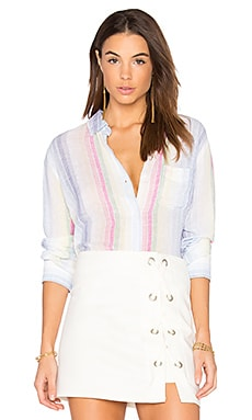 Charli Button Up in Rainbow Stripe