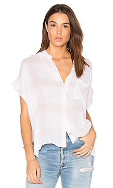 Whitney Button Up in White & Blush