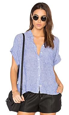Whitney Button Up in Royal & White Stripe