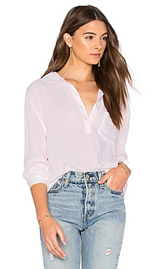 Elle Button Up in Peony White