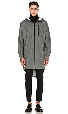 Rains Parka Coat in Grey