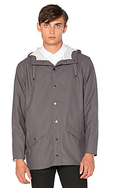 Rains Jacket in Smoke