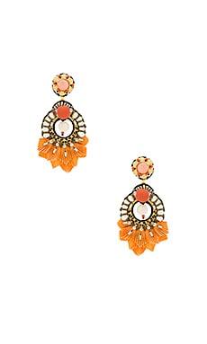 Фото - Серьги catete - Ranjana Khan оранжевого цвета