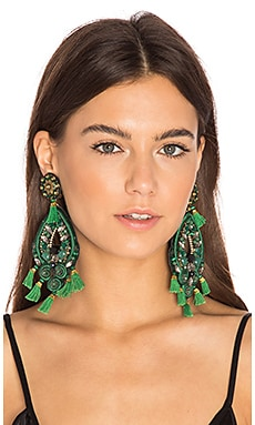 Chandelier Earring in Green