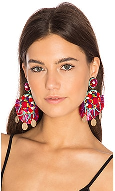 Statement Earring in Red
