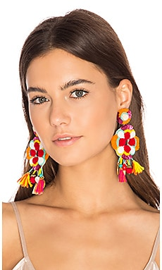 Multi Tassel Earring in Multi