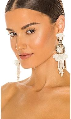BURNT CRYSTAL AND SILK PETAL 귀걸이 Ranjana Khan $325 컬렉션