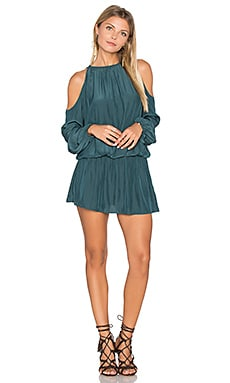 Lauren Cold Shoulder Dress in Spruce