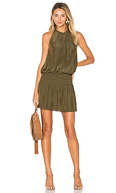 Paris Sleeveless Dress in Urban Green