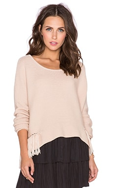 RAMY BROOK Kelly Embellished Sweater in Blush