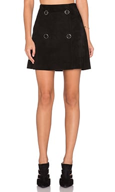 RAMY BROOK Jessie Suede Skirt in Black